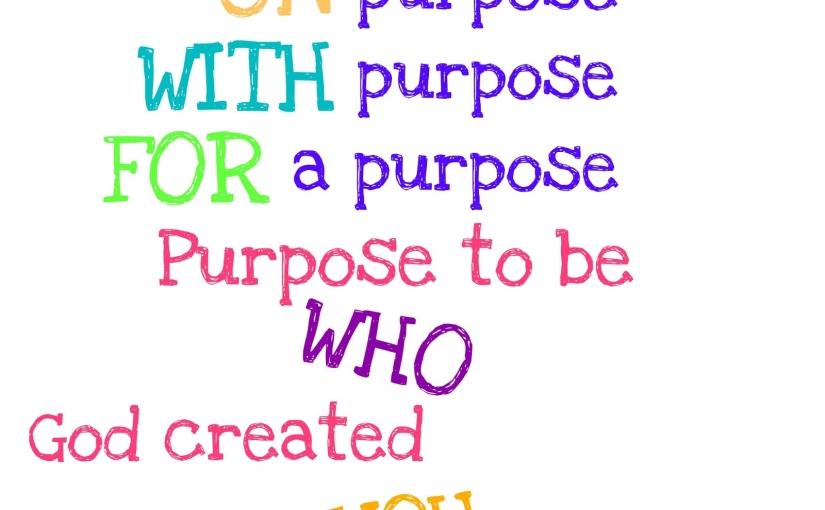 OneWord365 Challenge –Purpose